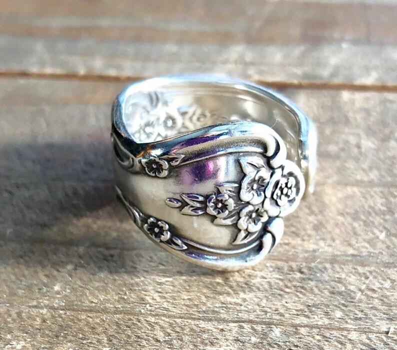 Löffel Ring Magnolia Besteck Ring Löffel Schmuck Ring Etsy