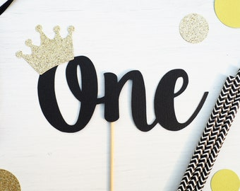READY TO SHIP! Wild one cake topper | Gold glitter one topper | First birthday cake topper | 1st birthday topper | Glittery cake topper |