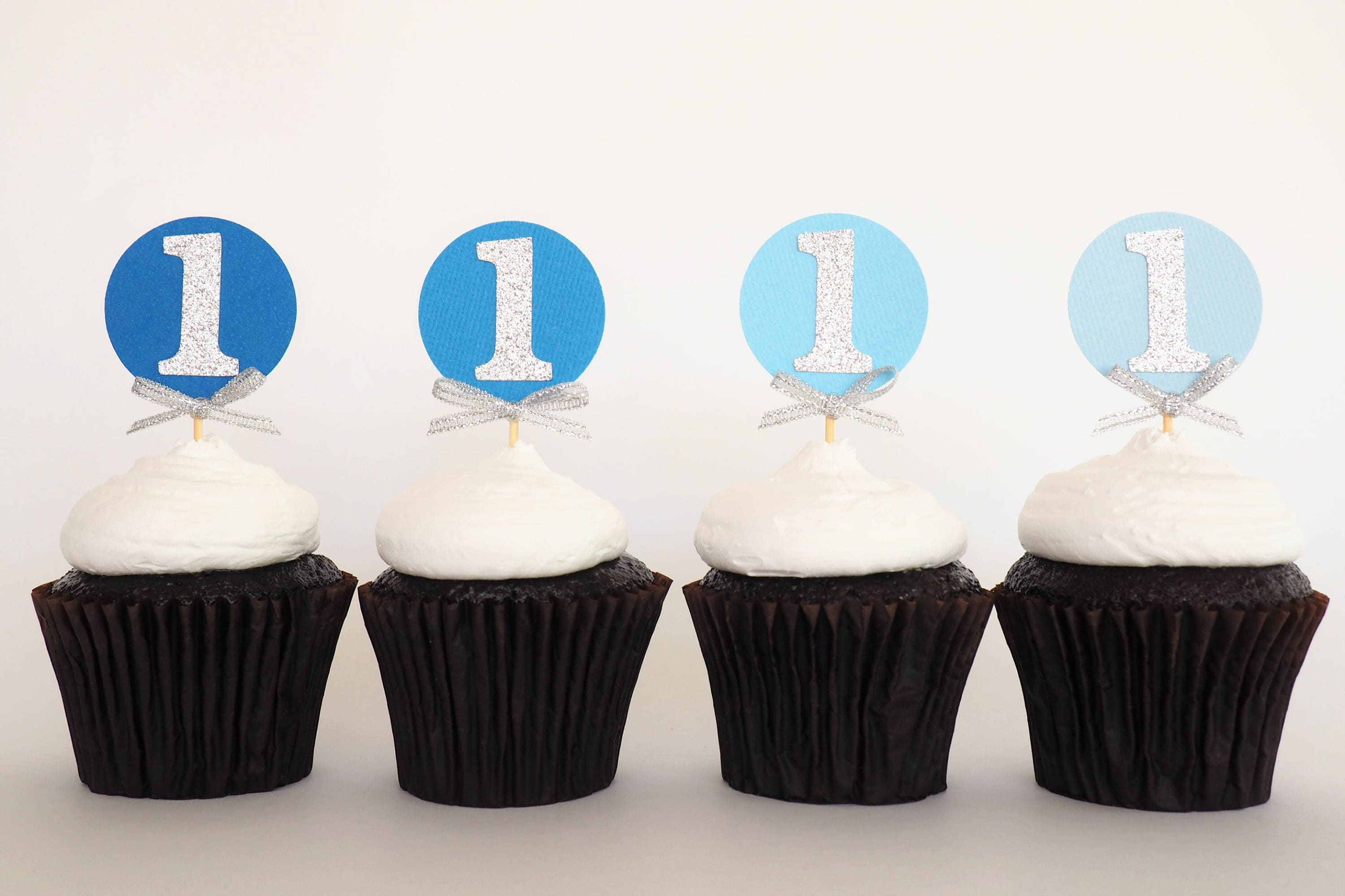 Atelier Elegance One Cupcake Toppers 1 Cupcake Toppers 1st Birthday Cupcake Topper