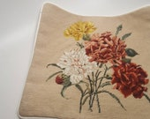 Needlepoint and petit point pillow cover-case large floral print