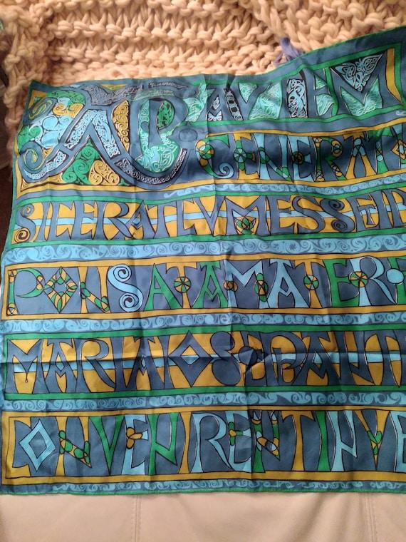 Vera Neumann Silk Scarf Gold Piece collection
