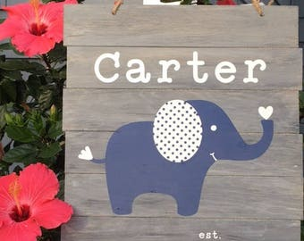 Personalized name Sign - Baby name Sign - Custom - Nursery -