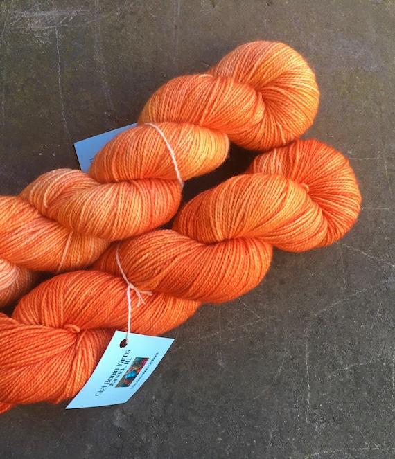Hand Dyed Yarn Tonal.Sock Weight.Merino Squash It Gigi Bonin