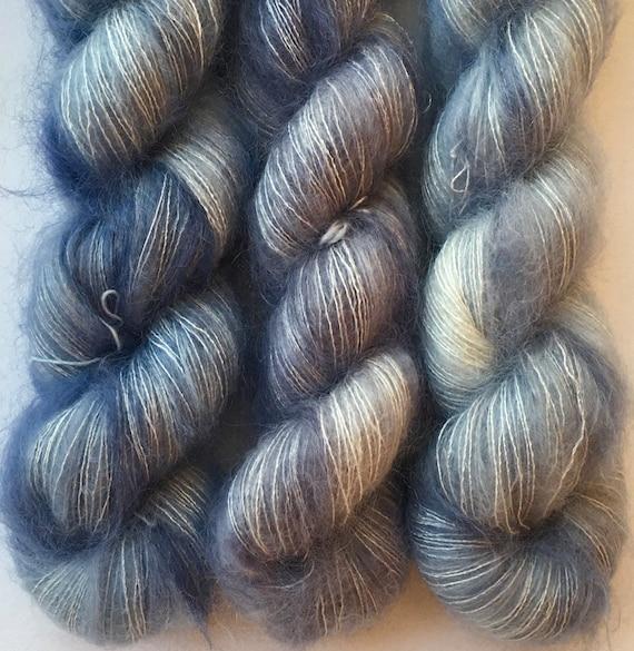 Silk Mohair 4 skein kit.Merino Hand Dyed.Gigi Bonin.