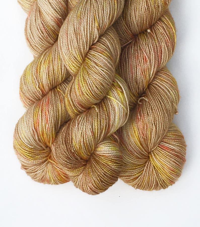 Berries in the Wheat. Gigi  Bonin Hand Dyed Yarn Sock Weight Merino