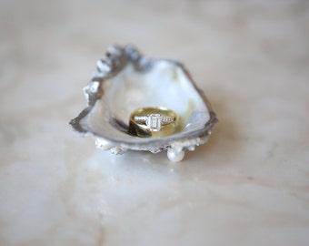 "Medium (~3"") Oyster Shell Jewelry Dish"