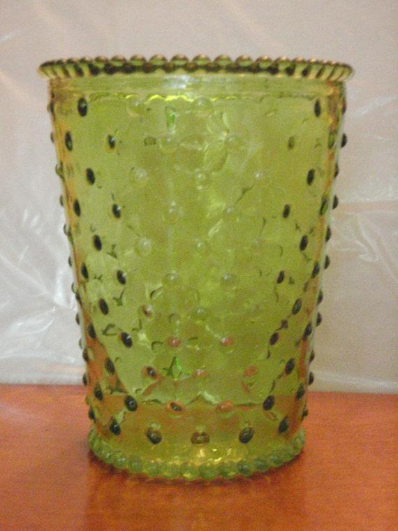Green Glass Bubble Vase Etsy