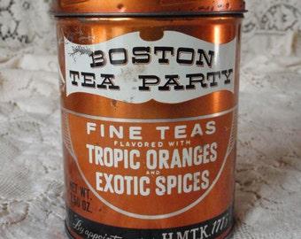 Tin Tea Canister - Boston Tea Party Fine Tea