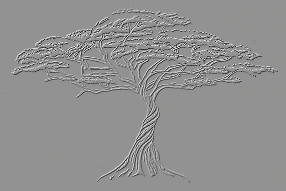 Instant Download Silver Tree Of Life Wall Art Illustration Etsy
