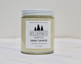 Sweet Orange Body Butter, Natural Body Butter, Vegan Body Butter, Handmade Body Butter