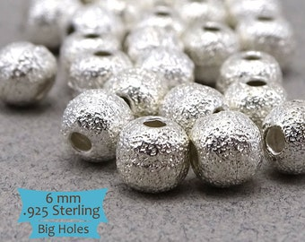 Large Hole Etched Sterling Silver Beads--1 Pc. | 45-567S-1