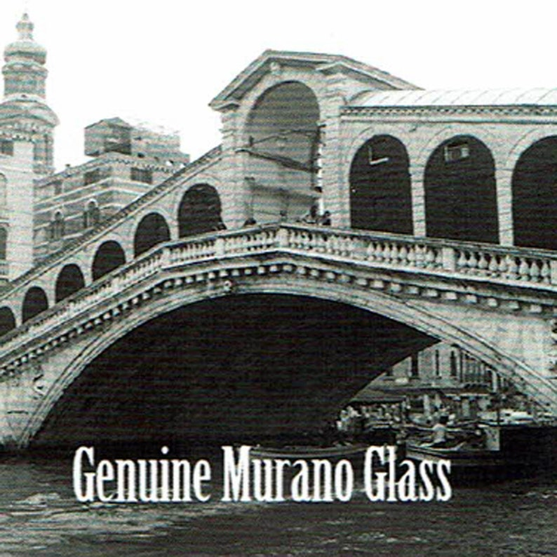 Aqua Black Gold Murano Glass Beads--8mm--1 Pc 31-AVV100