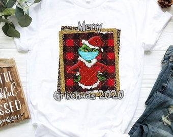 Funny 2020 Quarantine Grinch S M L XL 2XL Christmas Jumper