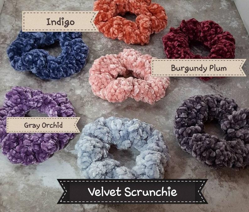 Velvet Crocheted Scrunchie Ponytail Holder!