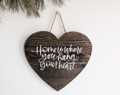Wood Heart Sign, Save The Date Sign, Wood Calligraphy