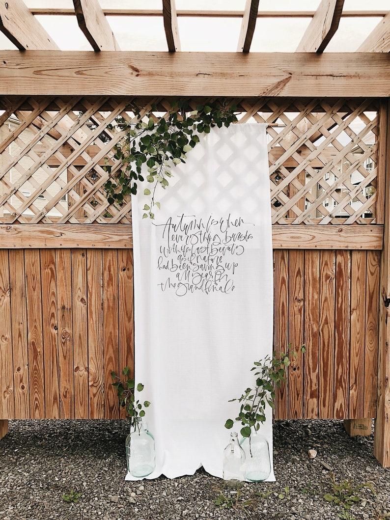 Stoffbanner Hochzeit Schild
