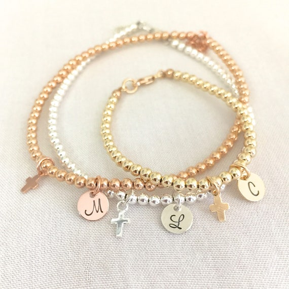 Personalized Baby Baptism Bracelet Confirmation Gift First Etsy
