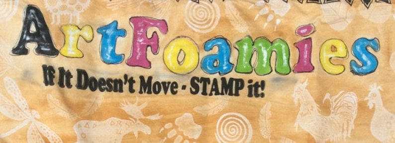 Dream Believe Create Set of 3 Large Art Foamies/' Foam Stamps