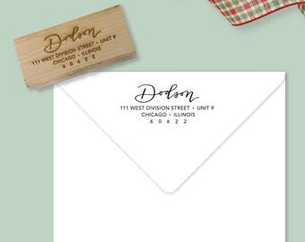 Custom Return Address Stamp | Hand Calligraphy | Simple