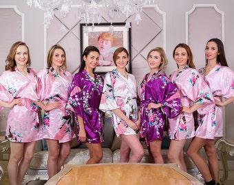 Kimono robe bridesmaid robe bridal party robe bridesmaid gift silk robe  wedding dress 1877660e4