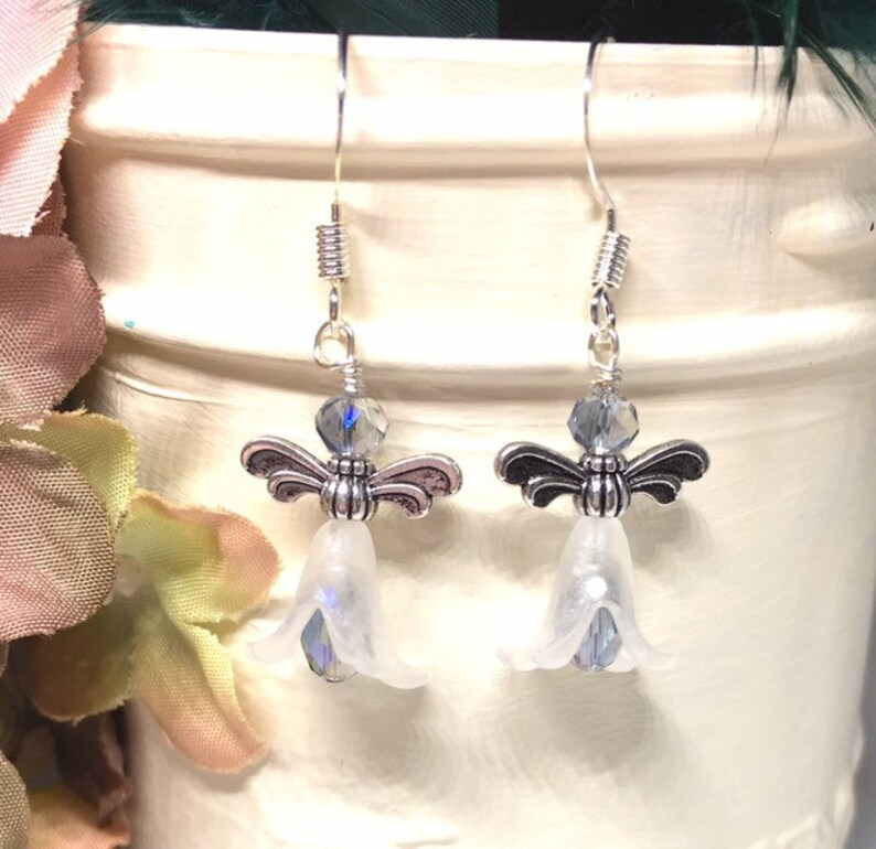 Magical Creatures Best Friend Gift Fairy Earrings Gift for Mom from Daughter Fantasy Jewelry Kawaii Earrings Silver Nature Jewelry
