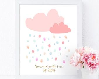db83173ea Rain Cloud Fingerprint guestbook