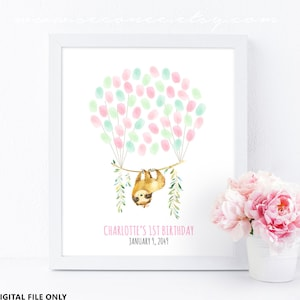 Sloth party decoration printable Sloth birthday guestbook alternative let/'s hang Sloth baby shower guest book Digital file Baby keepsake