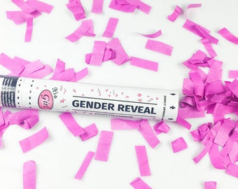 """12"""" Gender Reveal Confetti Cannon - Pink- Its a Girl!"""