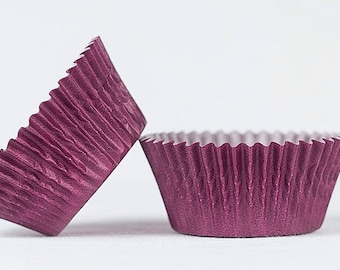 50pc Solid Burgundy Color Standard Size Cupcake Baking Cups Liners Wrappers