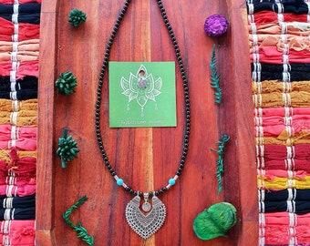 Rose Quartz Seed of Life Necklace Pendant  Amazonite Crystal Gemstone Obelisk Hippie Gypsy Yoga Sacred Grometry Handmade by GypsyLee Jewels