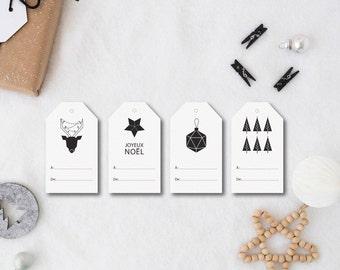 étiquette Cadeau Rustique Noël Rustique étiquette Noël à Etsy