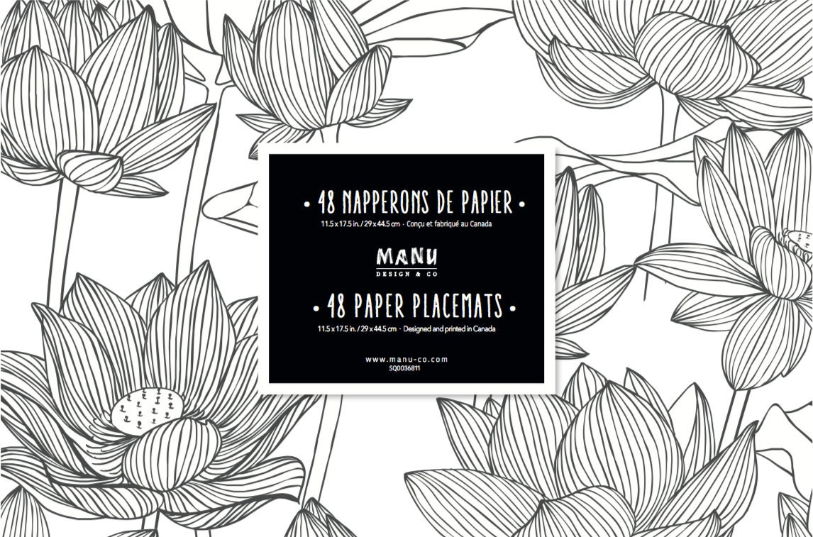 flower paper placemats flower party supplies placemats