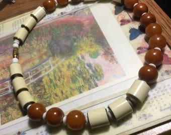 Bakelite Butterscotch Beaded Necklace