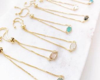 CORA | Bolo Bracelet | Gold Bolo Bracelet | Dainty Bolo Bracelet | Dainty Adjustable Bracelet | Stone Bracelet | Dainty Gold Bolo Bracelet