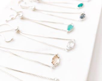 CORA | Bolo Bracelet | Silver Bolo Bracelet| Bolo Bracelet Women | Adjustable Bracelet | Stone Bracelet | Dainty Silver Bolo Bracelet Women