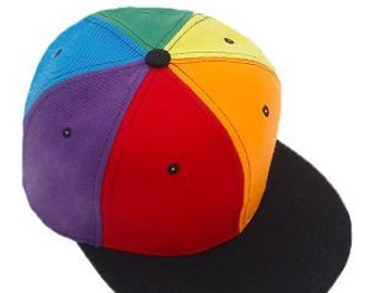 3157d631c5f Rainbow Gay Pride Cap LGBTQ Hat All colors in sync Unisex Pride Cap