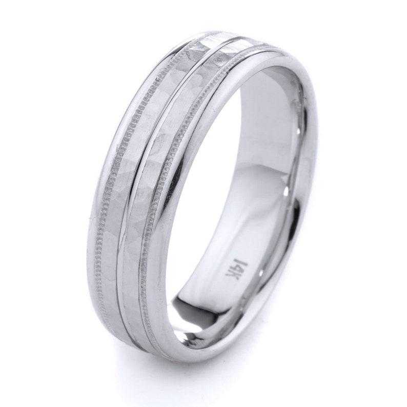 Women Men 14k solid Gold Wedding Band Ring Engagement 6mm Wide free engraving inside