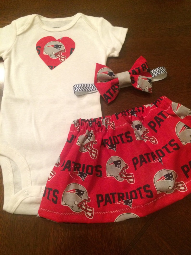 size 40 b8f66 db863 New England Patriots baby girl outfit NEWBORN CLEARANCE