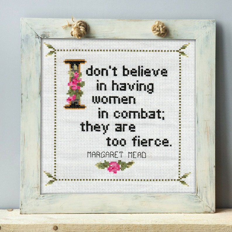 Margaret Mead Quote 1 Cross Stitch Pattern PDF: I don't image 0