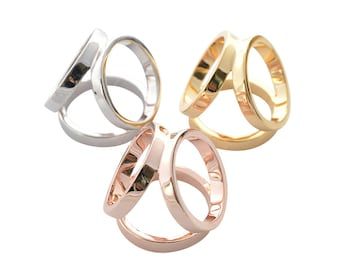 d0756e6de948 Trio Scarf ring Yellow gold Silver Rose Gold nickle free plated Scarf holder  Elegant Scarf Pin beautiful pouch box gift packed Flora Koh
