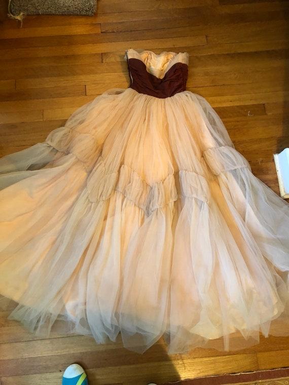 40's/50's Ceil Chapman gown - image 3