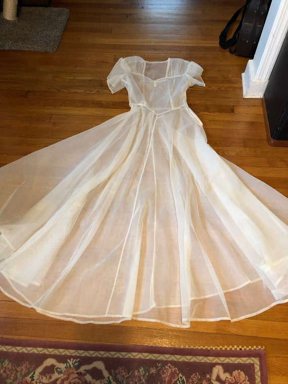 1930's organza wedding dress