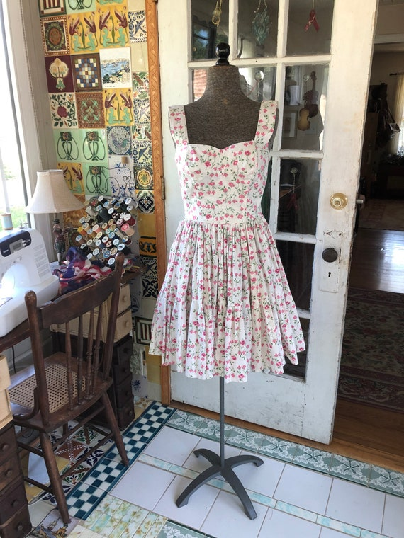50's fit and flare summer party dress