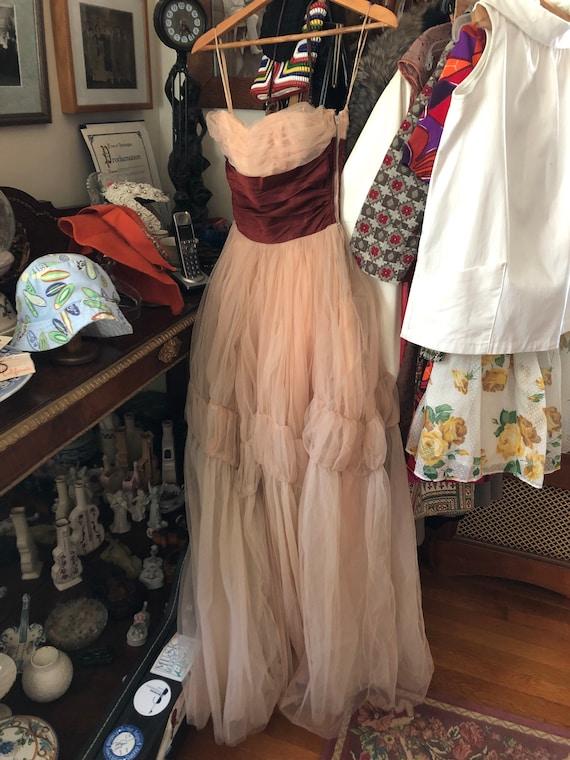 40's/50's Ceil Chapman gown