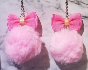 Bow Pom Pom Earrings