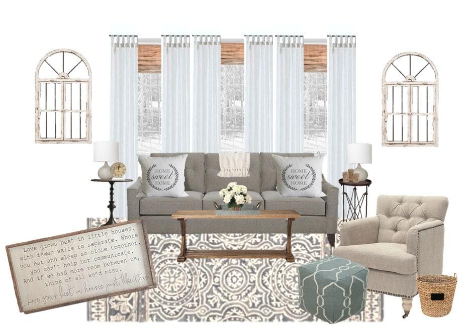 Living room interior design l virtual interior design l etsy - Virtual living room design ...