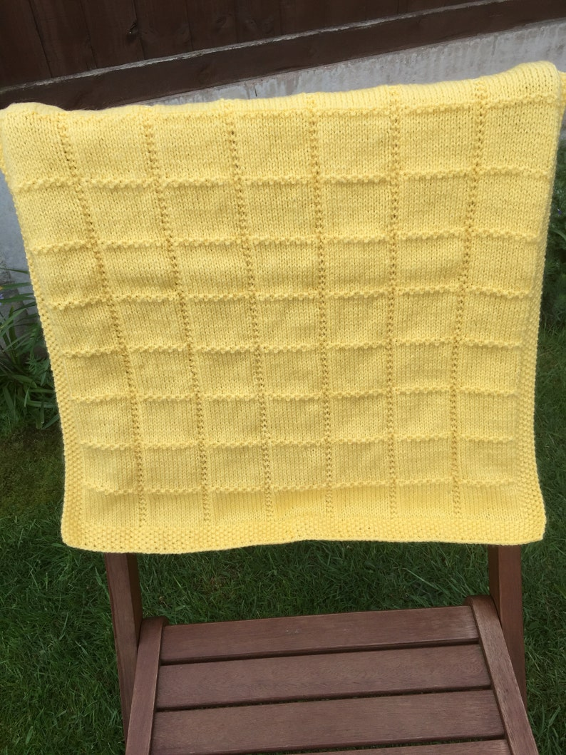 crib stroller or car seat. Made to order hand knit baby blanket for pram