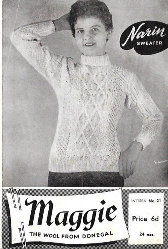 1940s 1950s 1960s Vintage Knitting Pattern Womens   Etsy