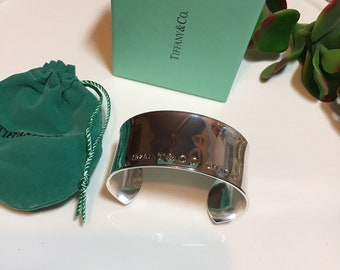 1b61c866c Tiffany & Co inspired sterling silver cuff bracelet.