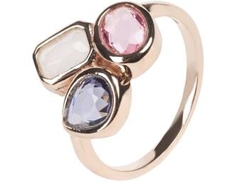 Venice Multi Gemstone Ring Rosegold